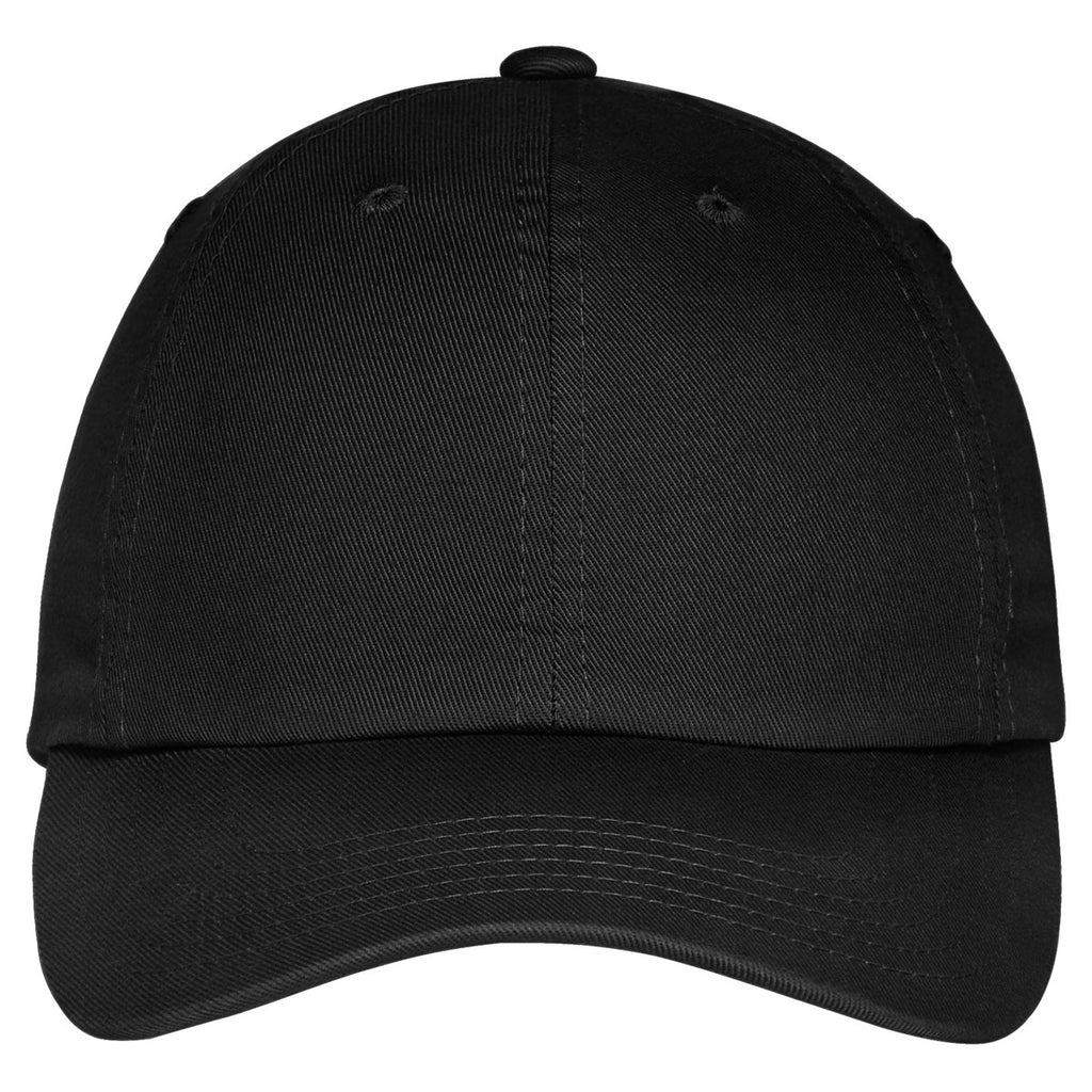 Port Authority Black Portflex Unstructured Cap