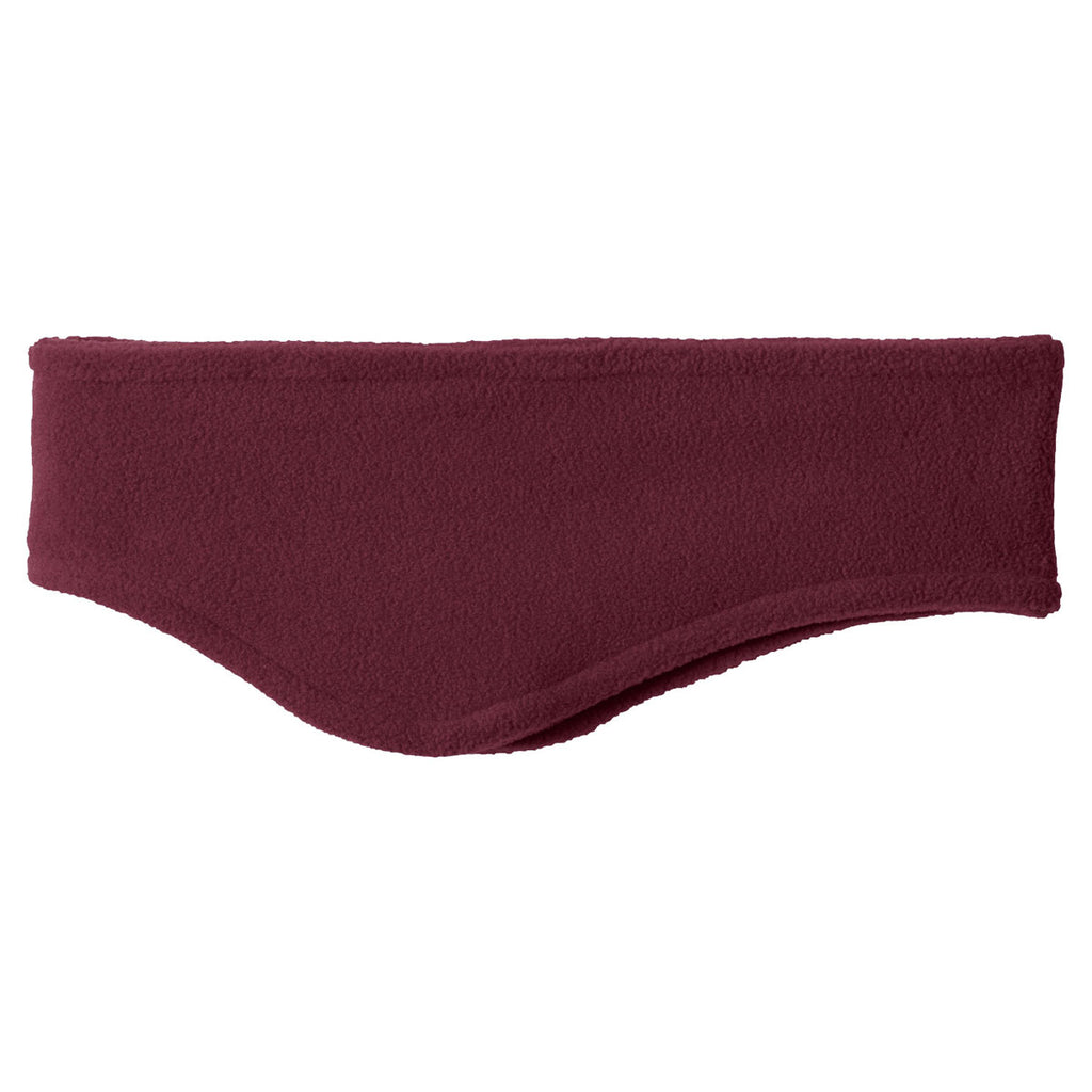Port Authority Maroon R-Tek Stretch Fleece Headband
