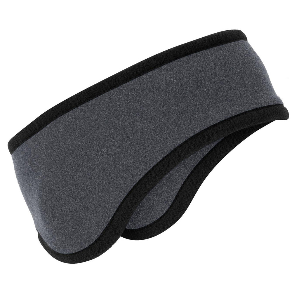 Port Authority Midnight Heather Two-Color Fleece Headband