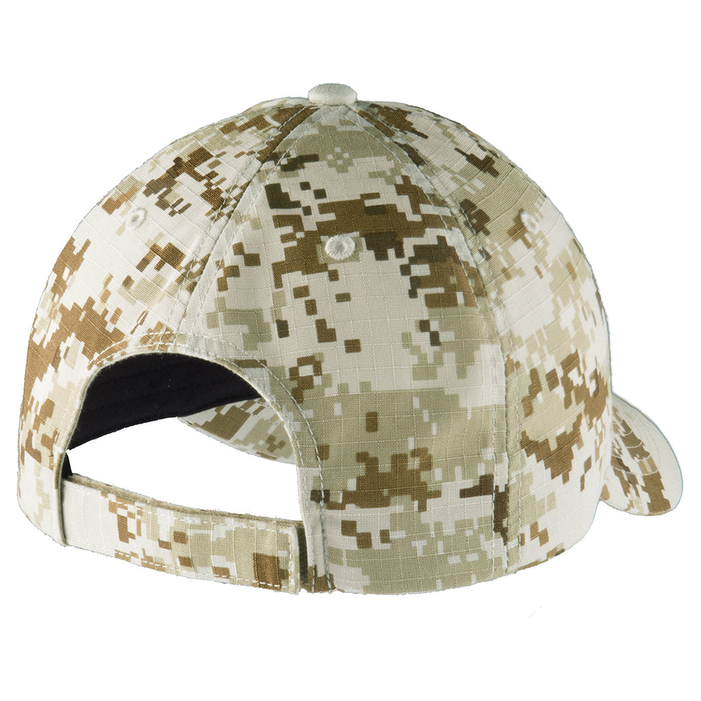 Port Authority Sand Camo Digital Ripstop Camouflage Cap