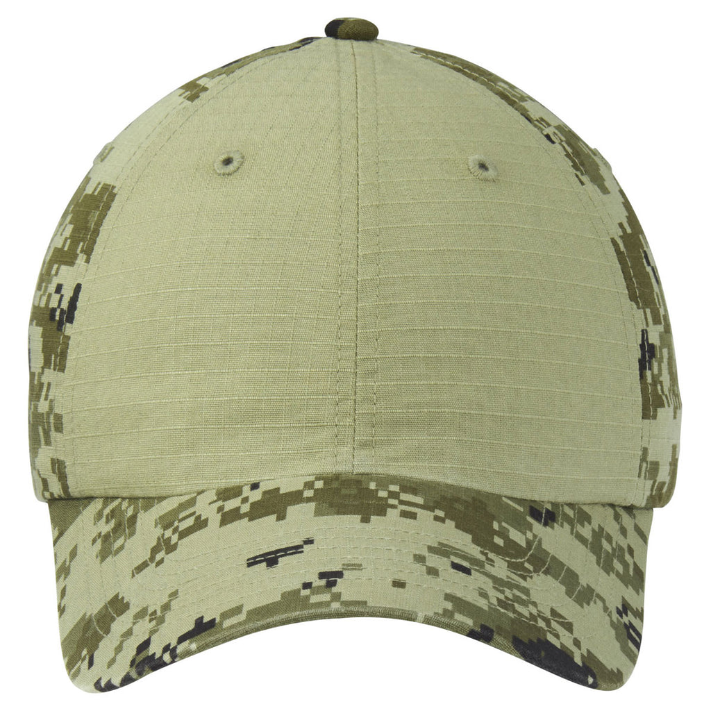 Port Authority Green Camo/ Green Colorblock Digital Ripstop Camouflage Cap