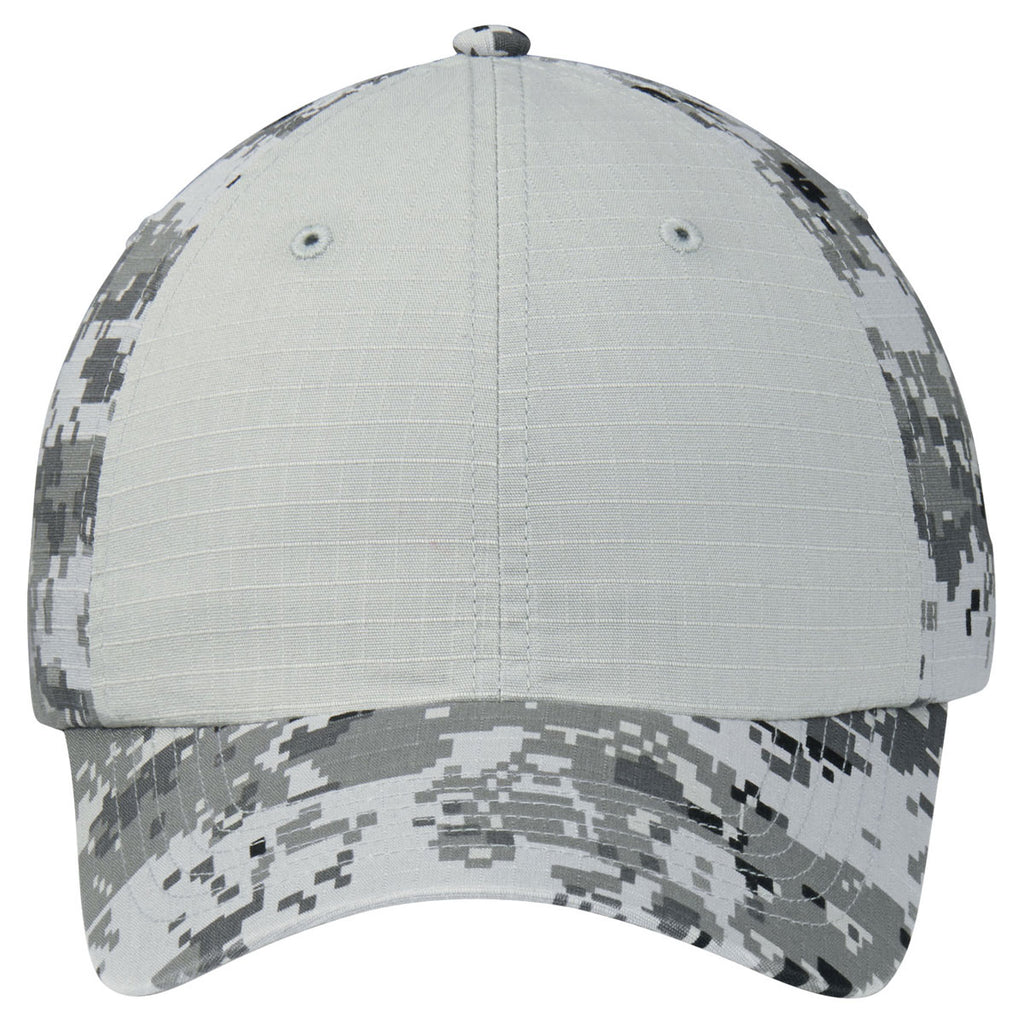 Port Authority Grey Camo/ Grey Colorblock Digital Ripstop Camouflage Cap