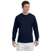 Champion Men's 5.2 oz Navy L/S Tagless T-Shirt