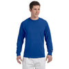 Champion Men's 5.2 oz Royal Blue L/S Tagless T-Shirt