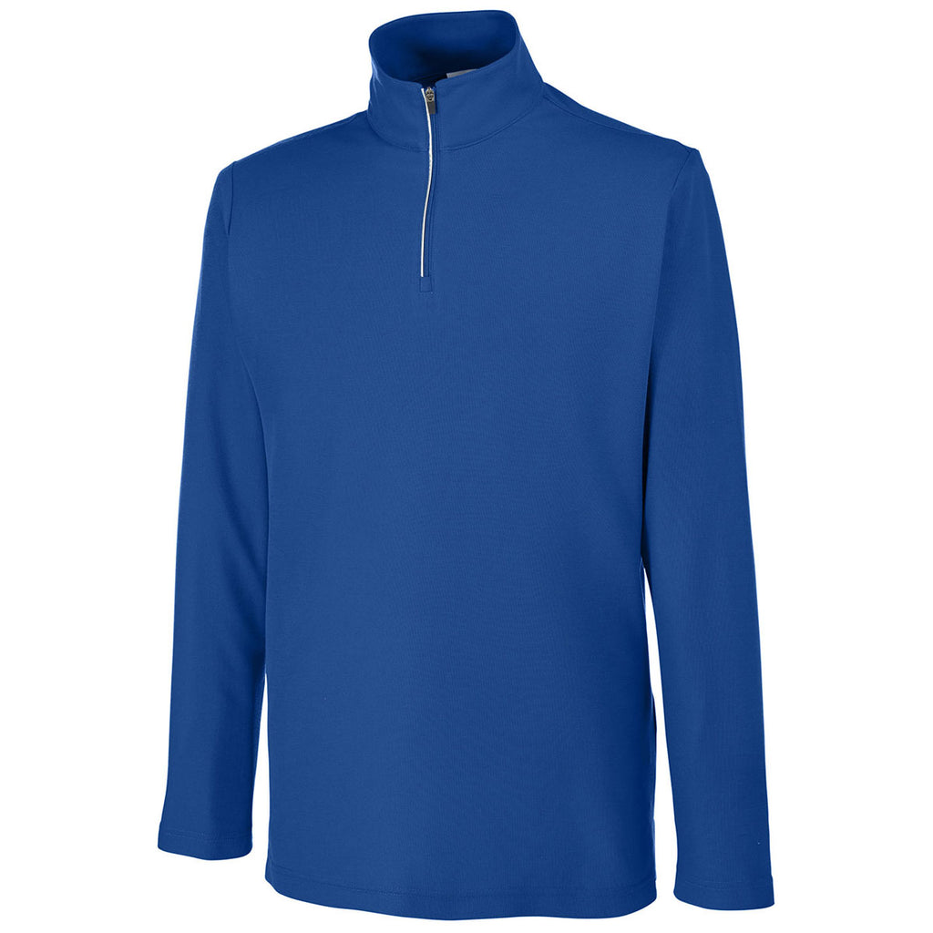 Core 365 Men's True Royal Fusion ChromaSoft Pique Quarter-Zip