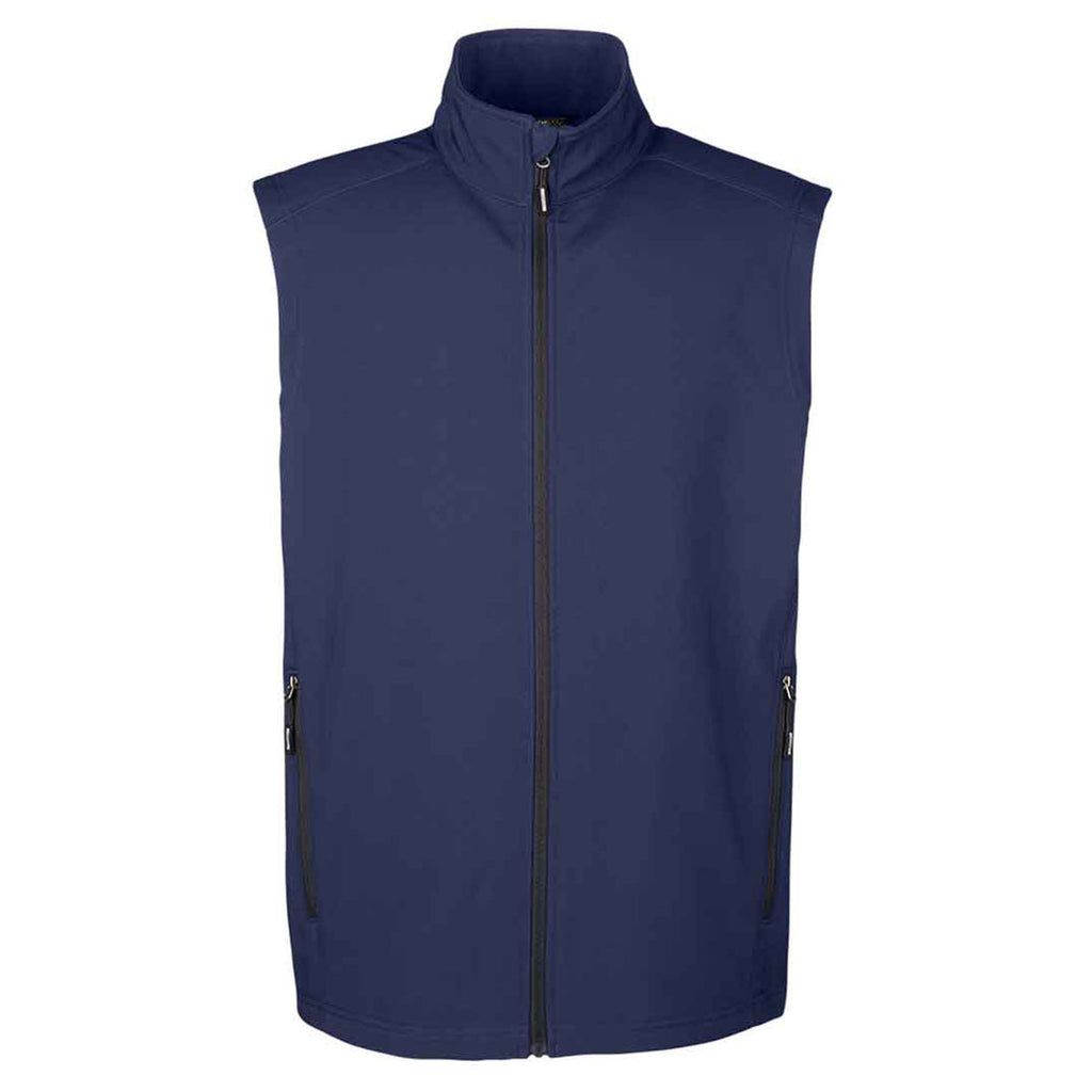 c29564611141 Core 365 Men s Classic Navy Cruise Two-Layer Fleece Bonded Soft Shell Vest.  ADD YOUR LOGO