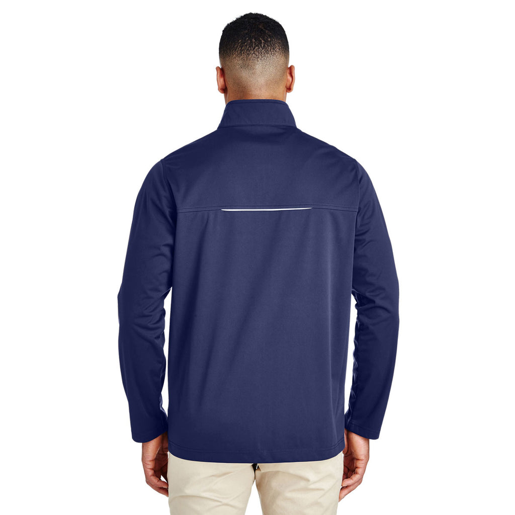 Core 365 Men's Classic Navy Techno Lite Three-Layer Knit Tech Shell