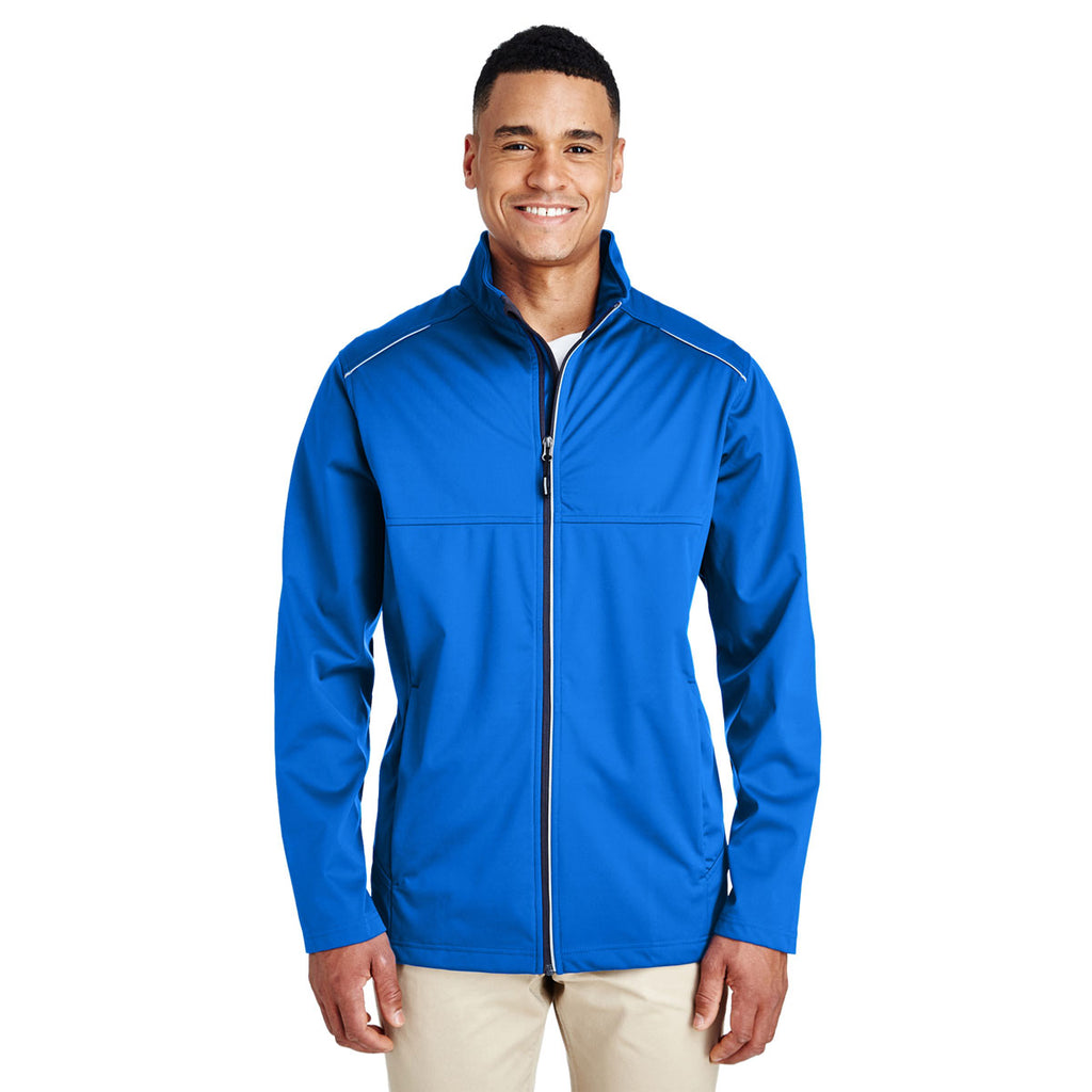Core 365 Men's True Royal Techno Lite Three-Layer Knit Tech Shell