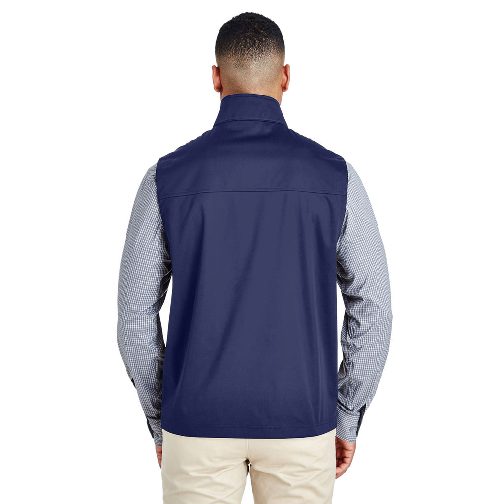 Core 365 Men's Classic Navy Techno Lite Three-Layer Knit Tech Quarter Zip Vest