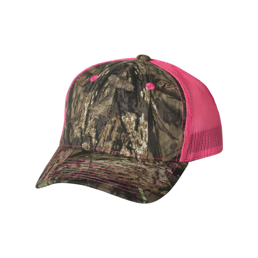 f99f058391ab2 Outdoor Cap Mossy Oak Country Neon Pink Camo Cap with Neon ...