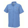 Columbia Women's White Cap Blue Bahama S/S Shirt