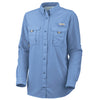 Columbia Women's White Cap Blue Bahama L/S Shirt
