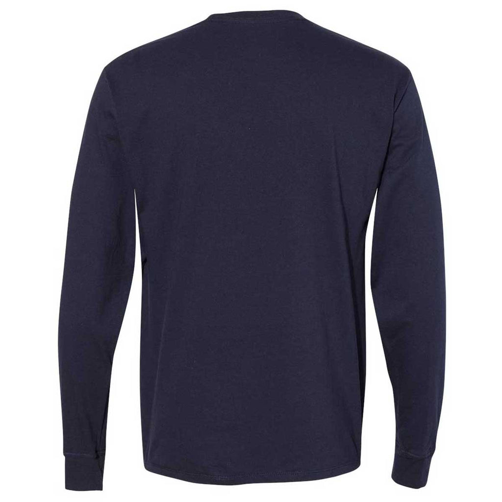 Champion Men's Navy Premium Fashion Classics Long Sleeve T-Shirt