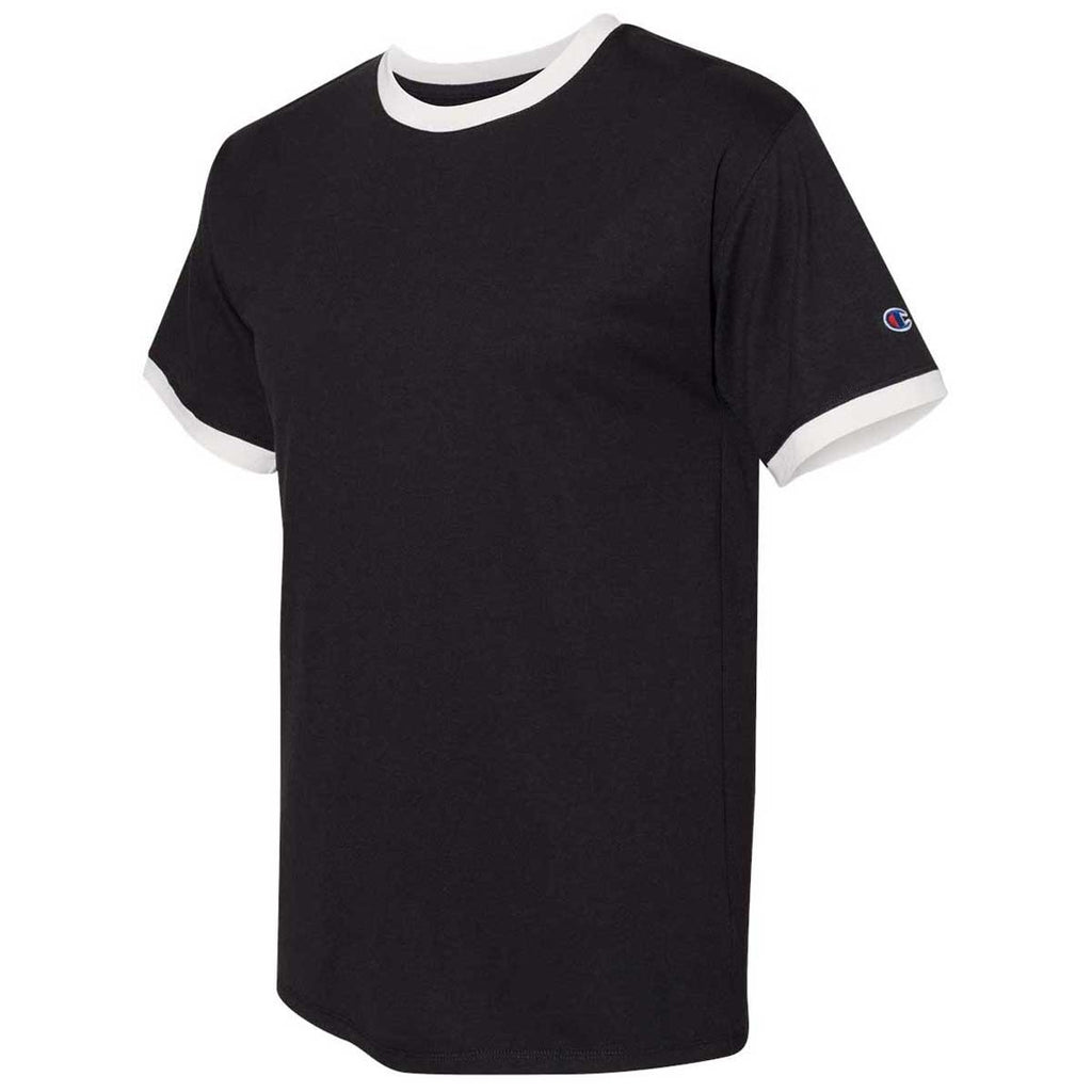 Champion Men's Black/Chalk White Premium Fashion Ringer T-Shirt