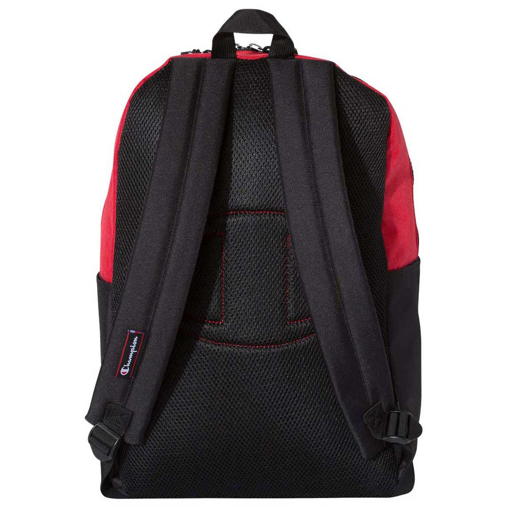 Champion Heather Red/Black 21L Script Backpack