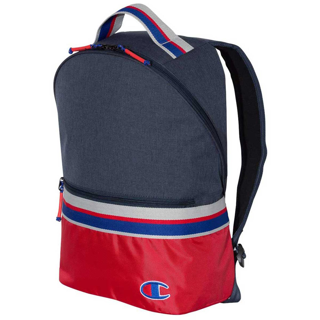Champion Navy/Red 23L Striped Backpack