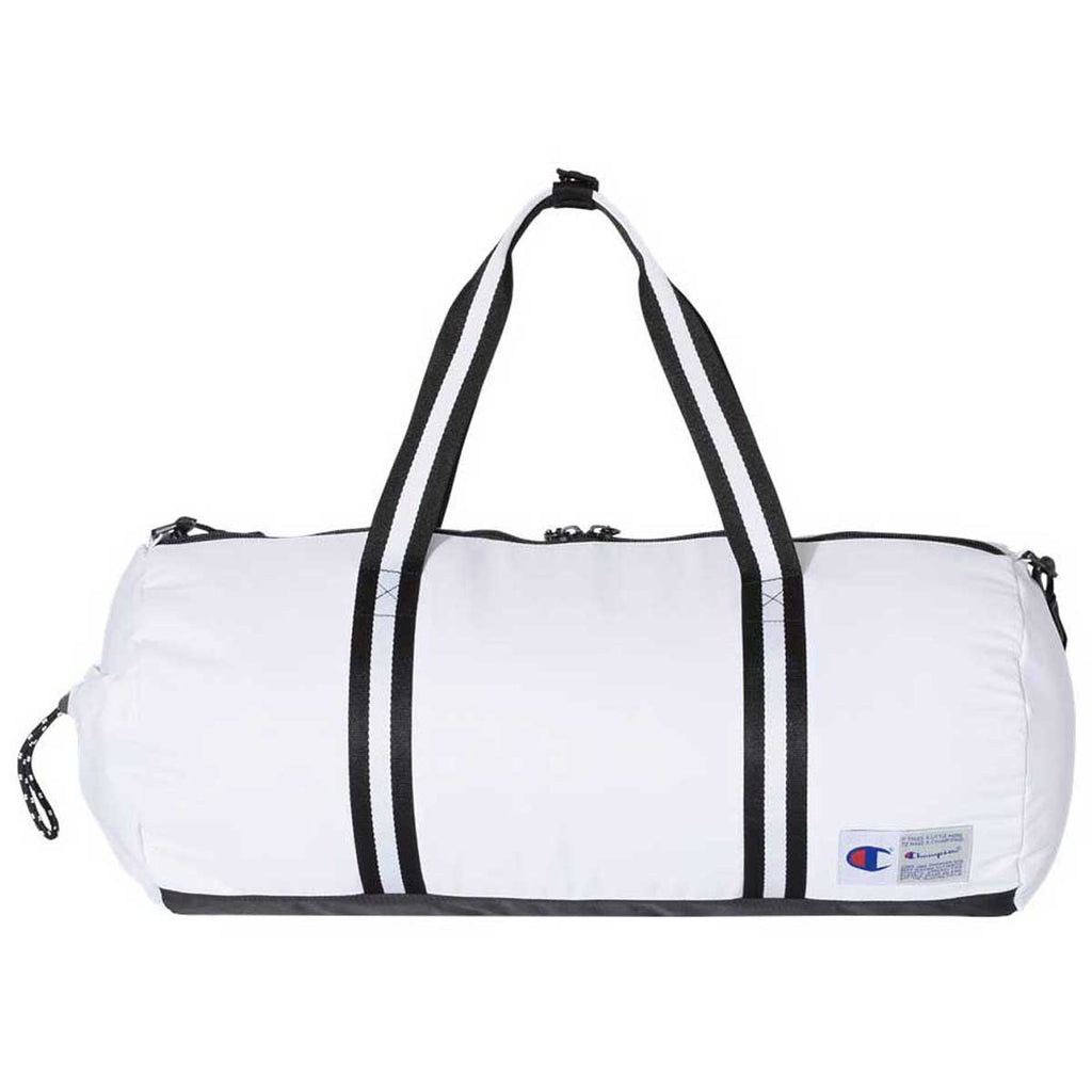 Champion White 44L Branded Duffel Bag