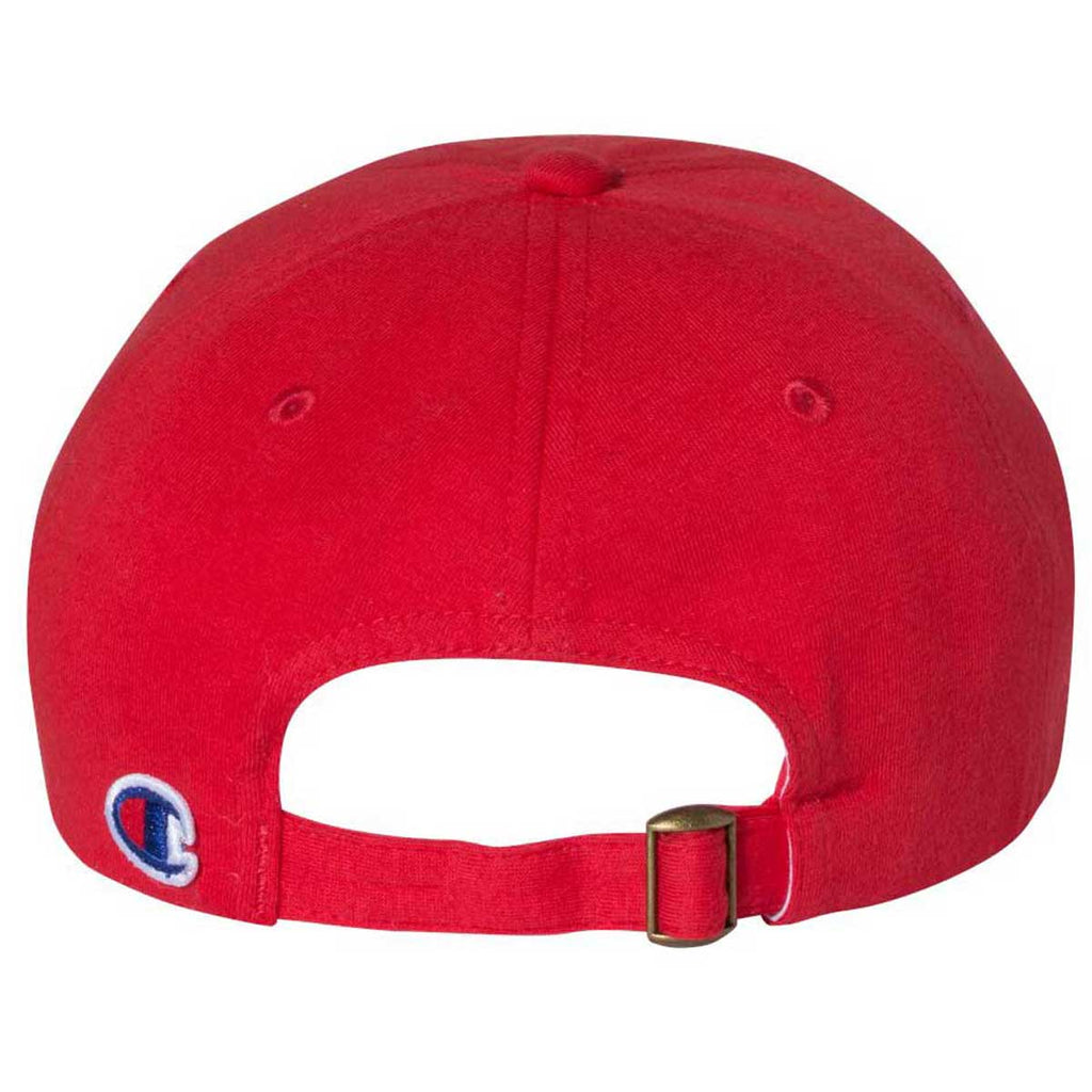 Champion Bright Red Scarlet Jersey Knit Dad Cap