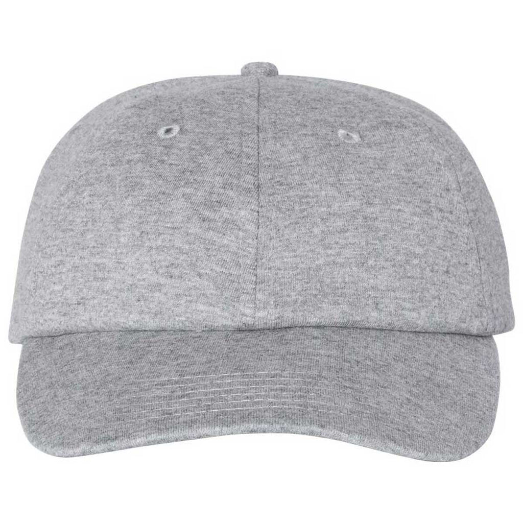 Champion Heather Oxford Grey Jersey Knit Dad Cap