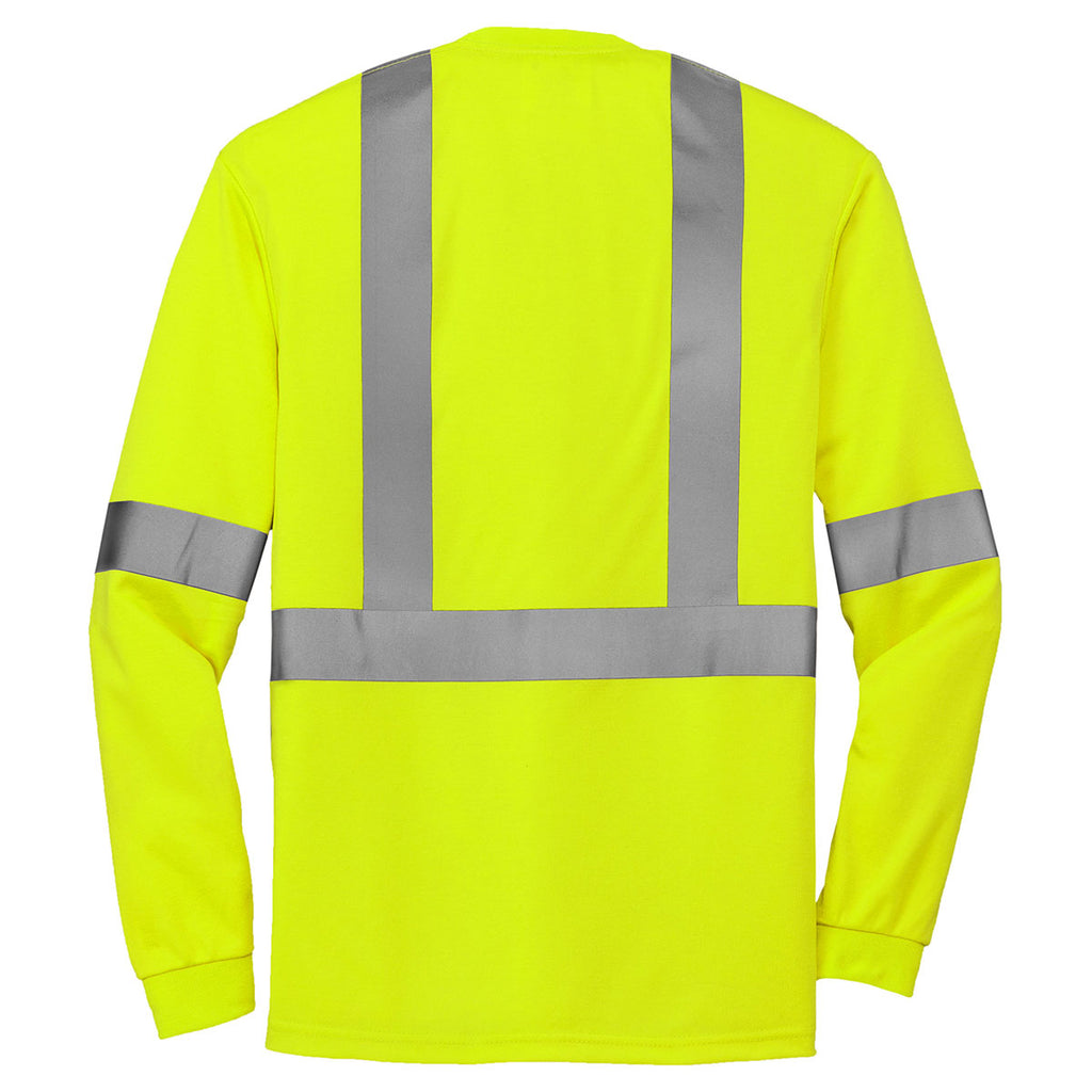 CornerStone Safety Yellow ANSI 107 Class 2 Long Sleeve Safety T-Shirt