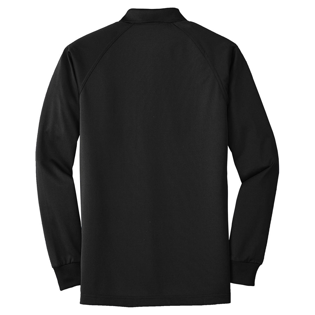 Cornerstone Men's Black Select Long Sleeve Snag-Proof Tactical Polo