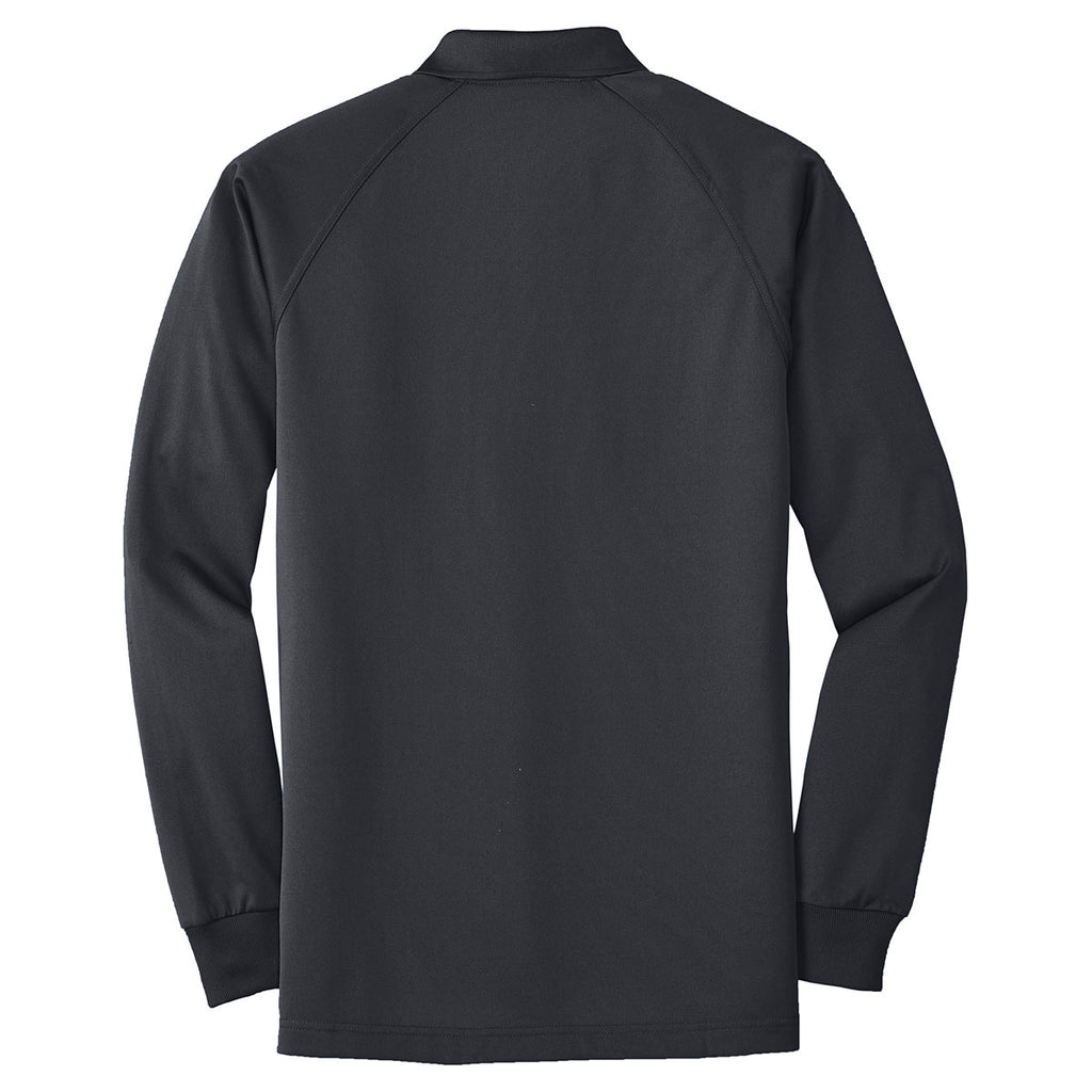 CornerStone Men's Charcoal Select Long Sleeve Snag-Proof Tactical Polo