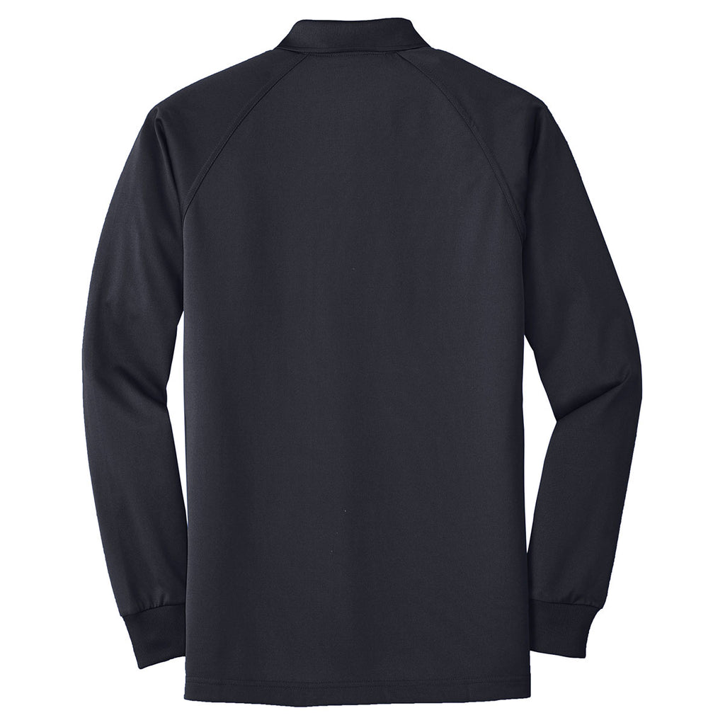 CornerStone Men's Dark Navy Select Long Sleeve Snag-Proof Tactical Polo