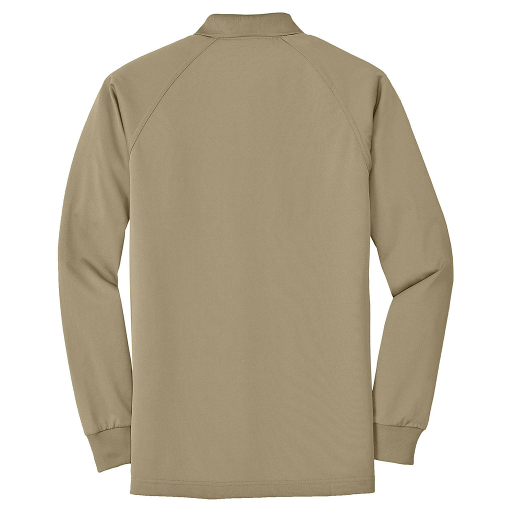 Cornerstone Men's Tan Select Long Sleeve Snag-Proof Tactical Polo