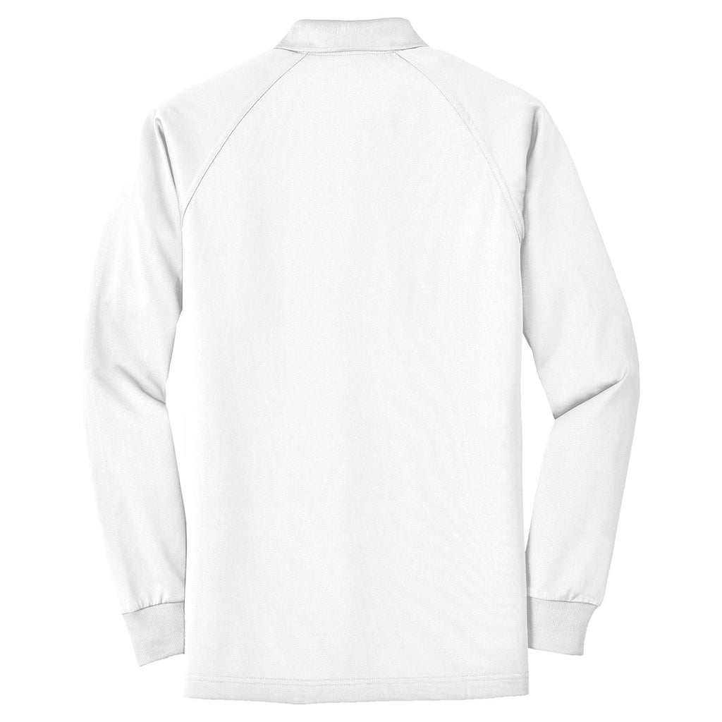 CornerStone Men's White Select Long Sleeve Snag-Proof Tactical Polo