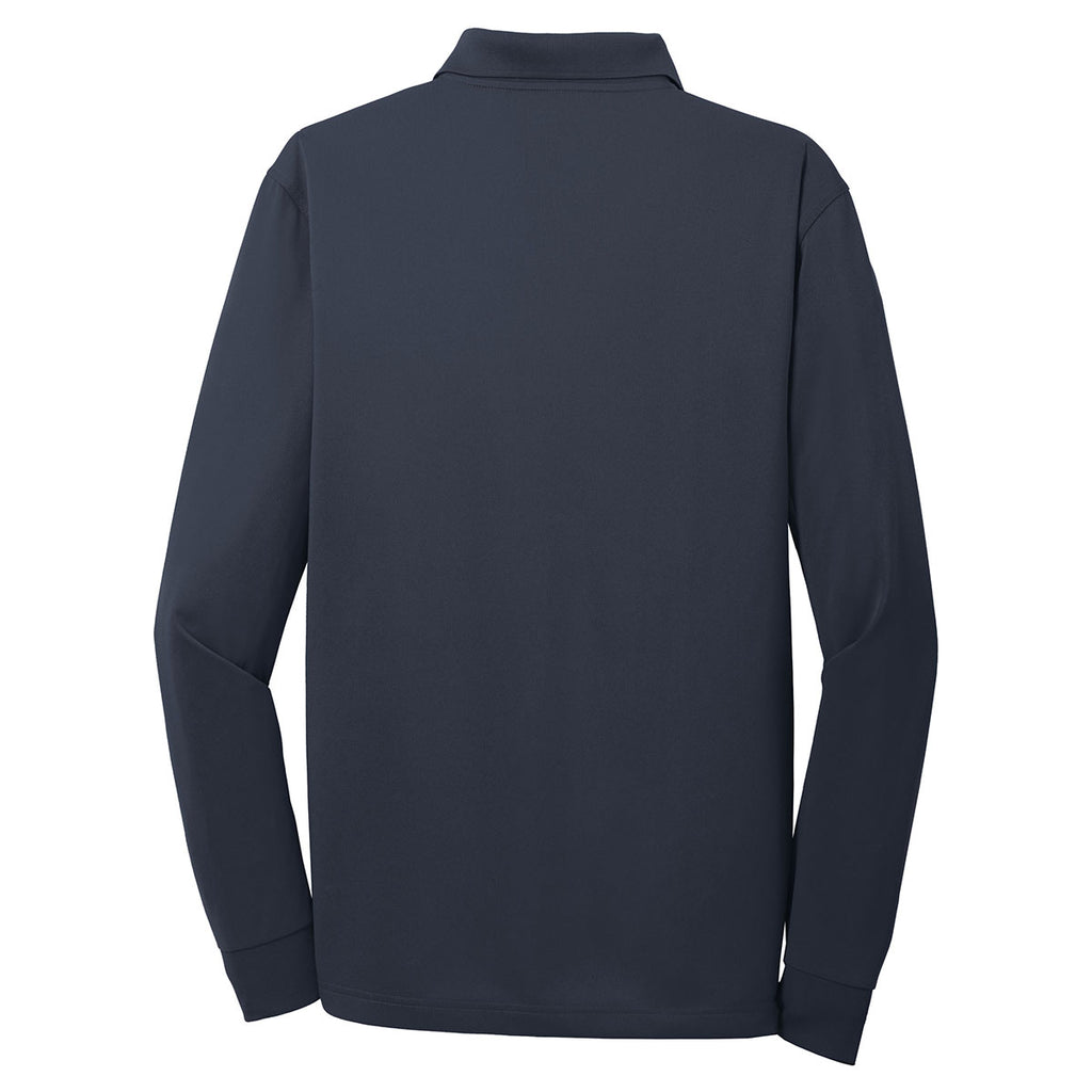 Cornerstone Men's Dark Navy Select Snag-Proof Long Sleeve Polo