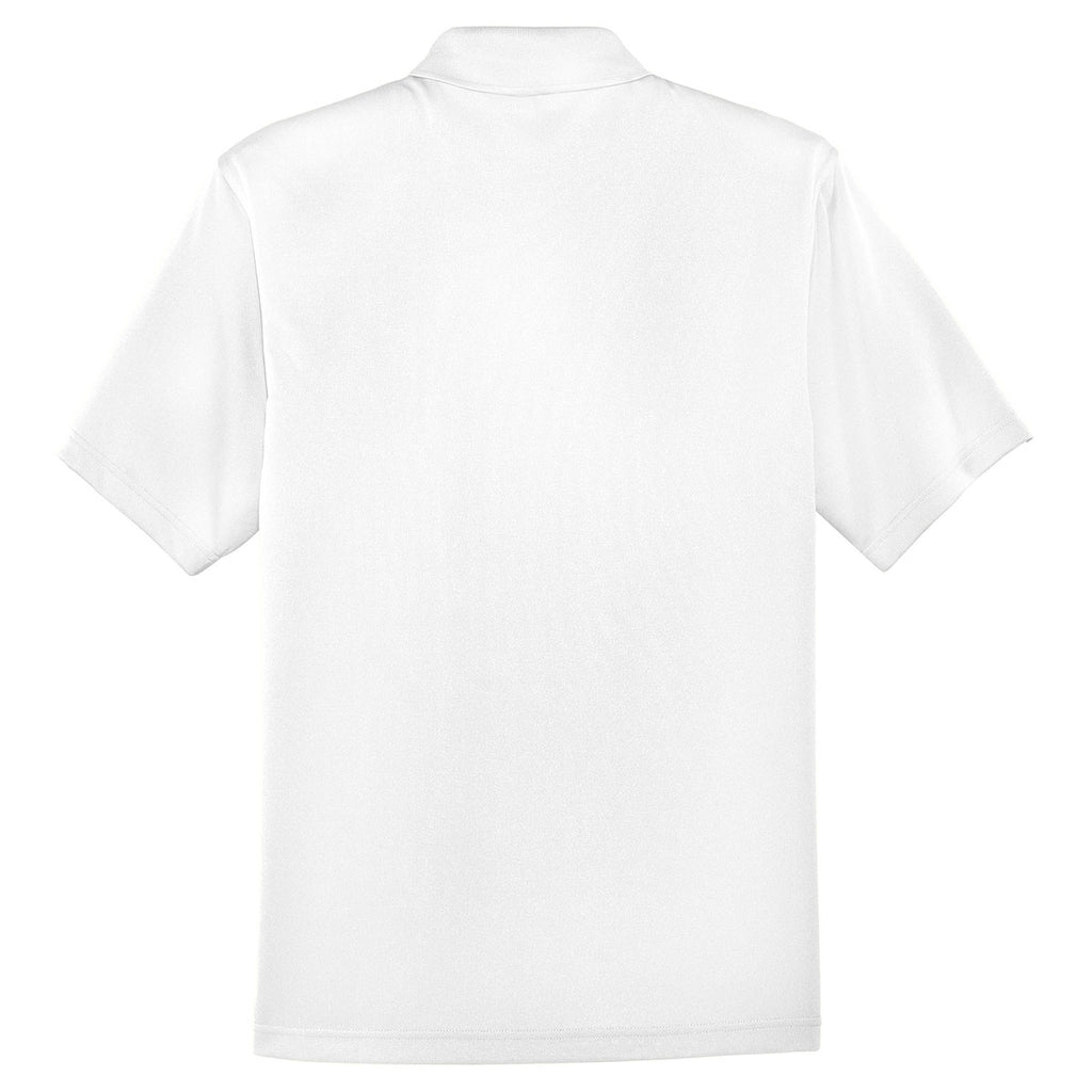 Cornerstone Men's White Select Snag-Proof Pocket Polo