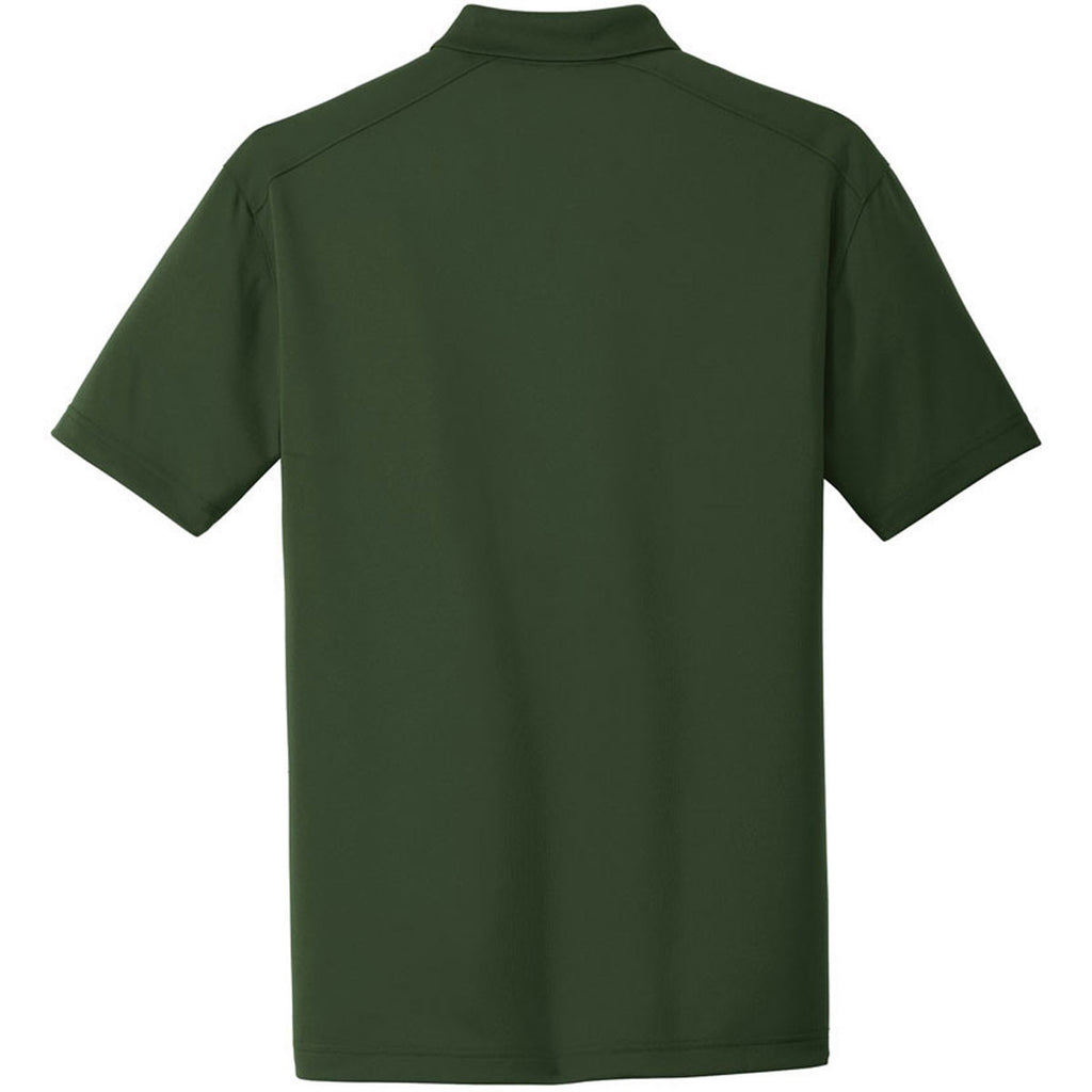 CornerStone Men's Dark Green Select Lightweight Snag-Proof Polo