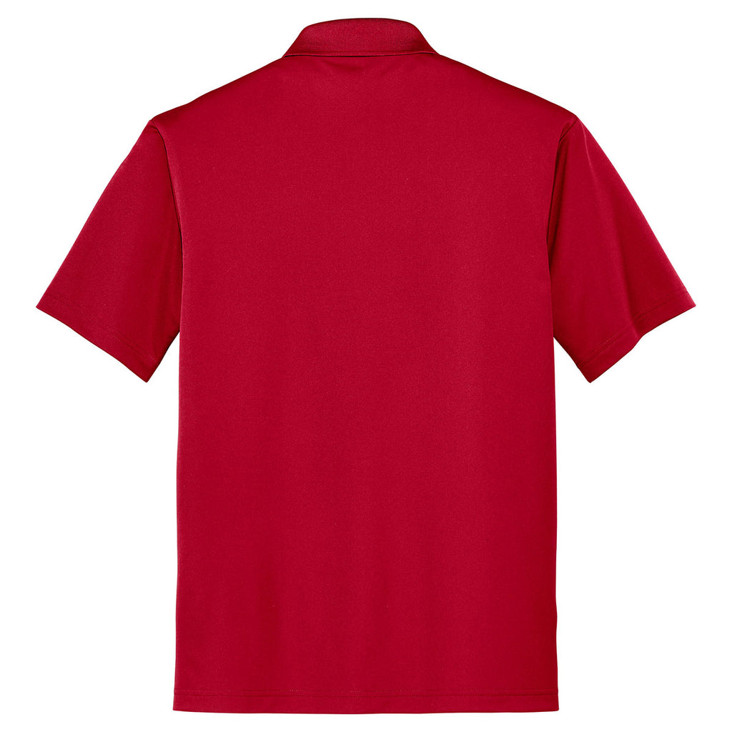 Cornerstone Men's True Red Micropique Gripper Polo