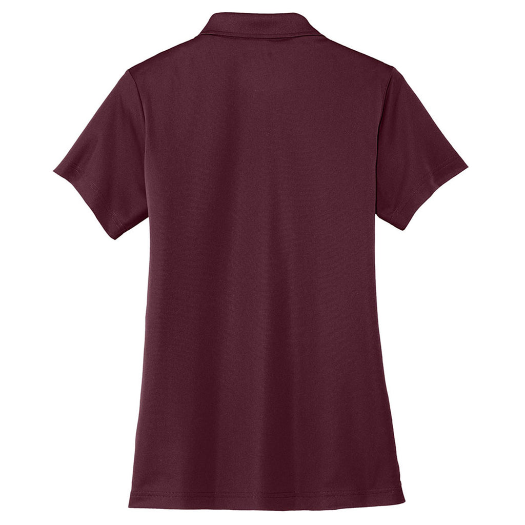Cornerstone Women's Maroon Micropique Gripper Polo