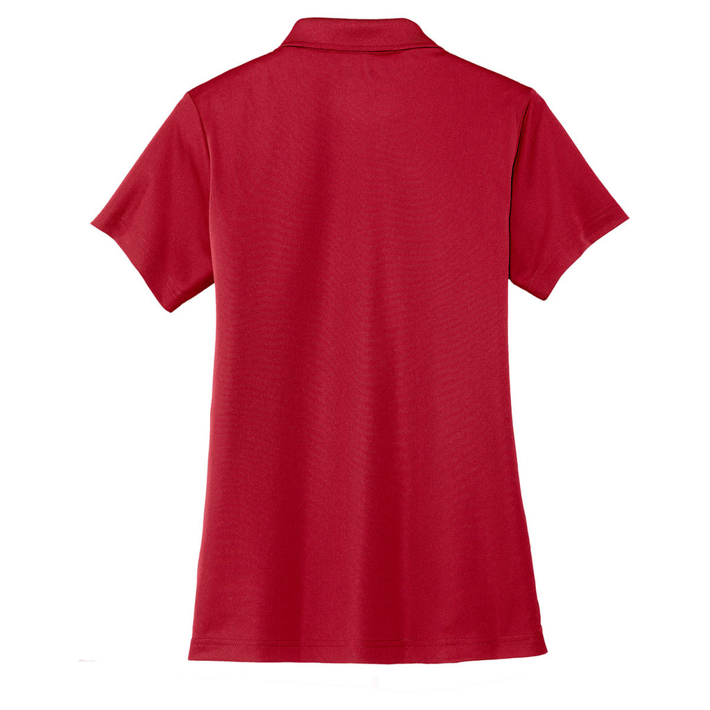 Cornerstone Women's True Red Micropique Gripper Polo