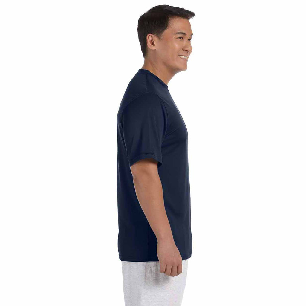 Champion Men's Navy Double Dry 4.1-Ounce Interlock T-Shirt