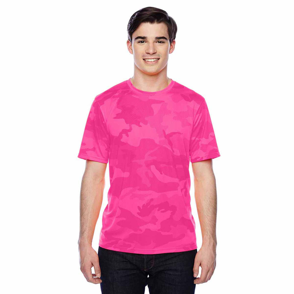 Champion Men's Pink Camo Double Dry 4.1-Ounce Interlock T-Shirt