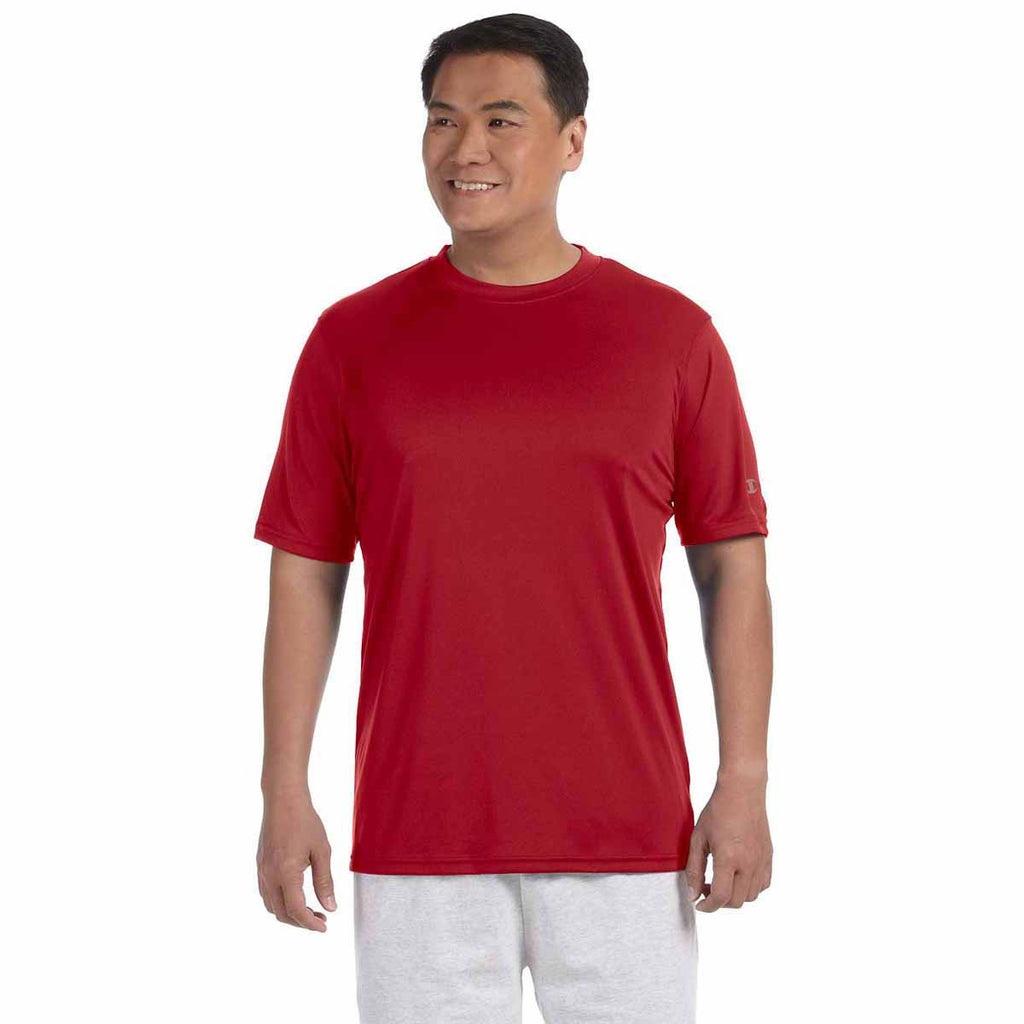 Champion Men's Scarlet Double Dry 4.1-Ounce Interlock T-Shirt