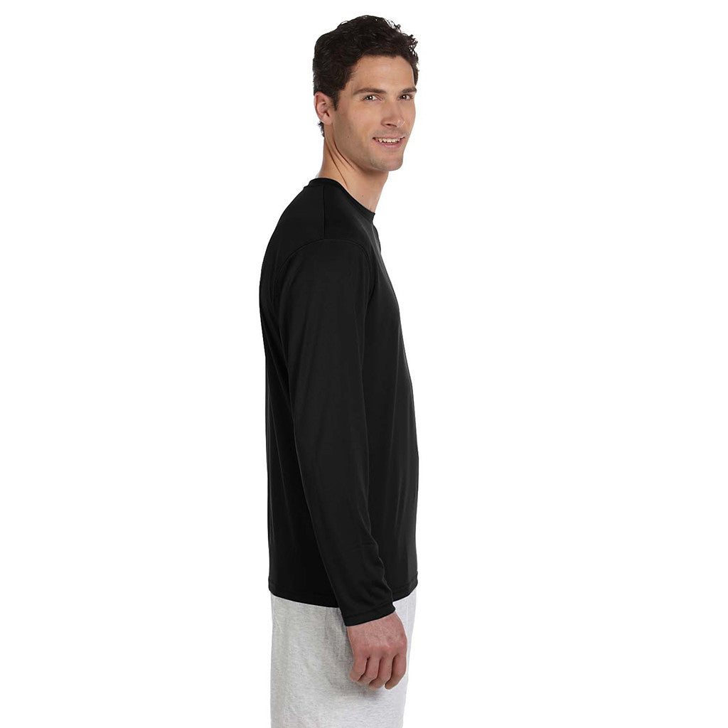 Champion Men's Double Dry Black L/S Performance T-Shirt