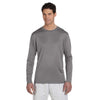 Champion Men's Double Dry Stone Grey L/S Performance T-Shirt