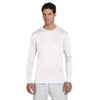 Champion Men's Double Dry White L/S Performance T-Shirt