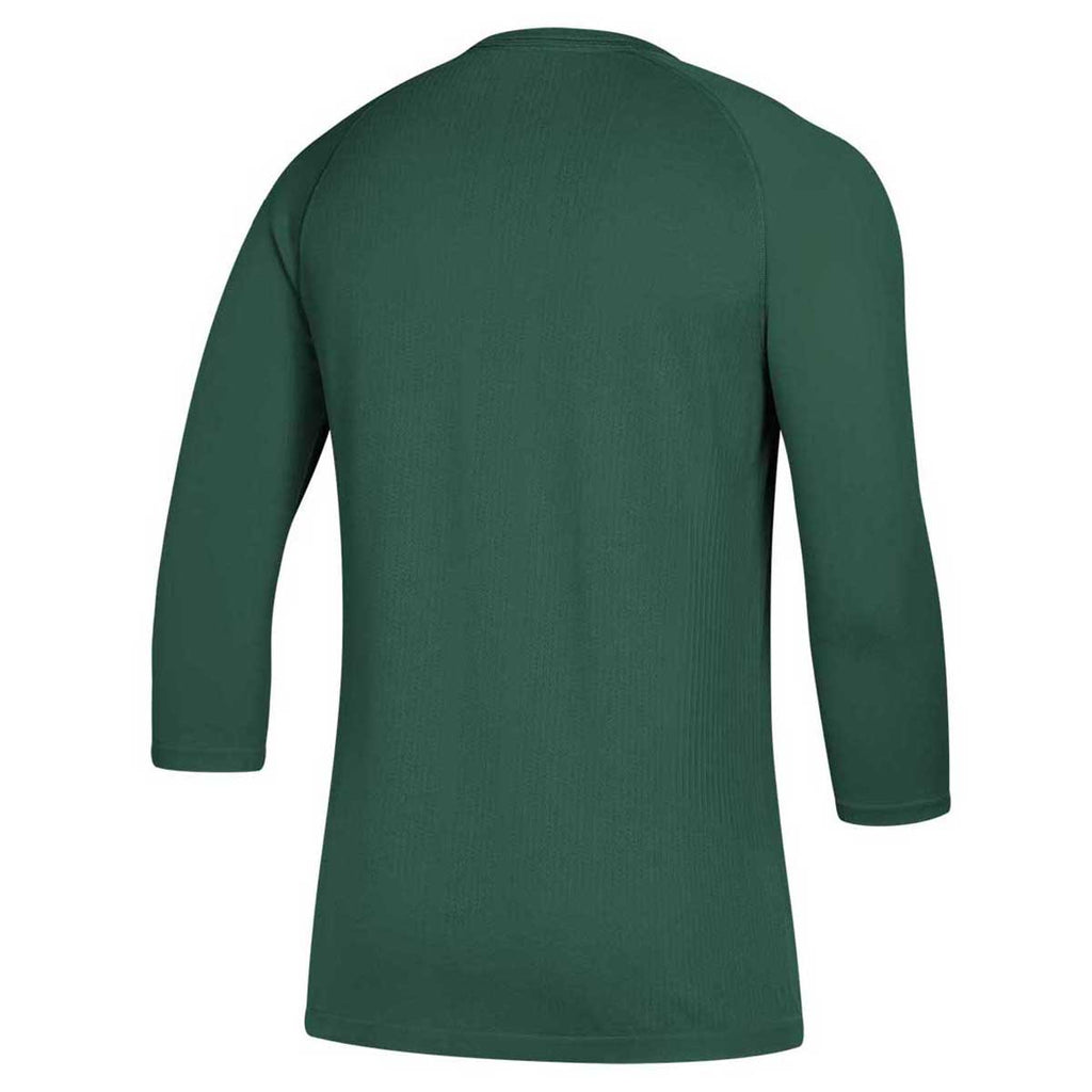 adidas Men's Dark Green Fielder's Choice 2.0 3/4 Baselayer