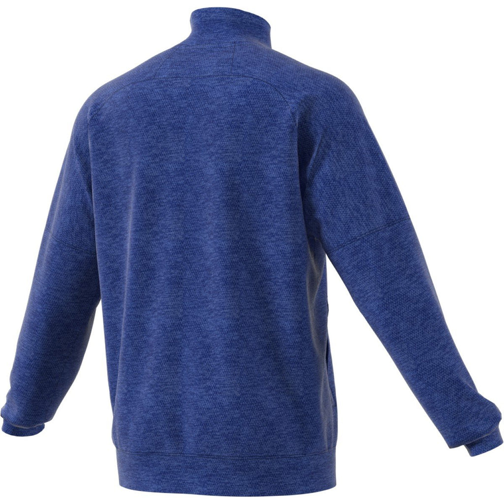 adidas Men's Collegiate Royal Melange Team Issue Quarter Zip