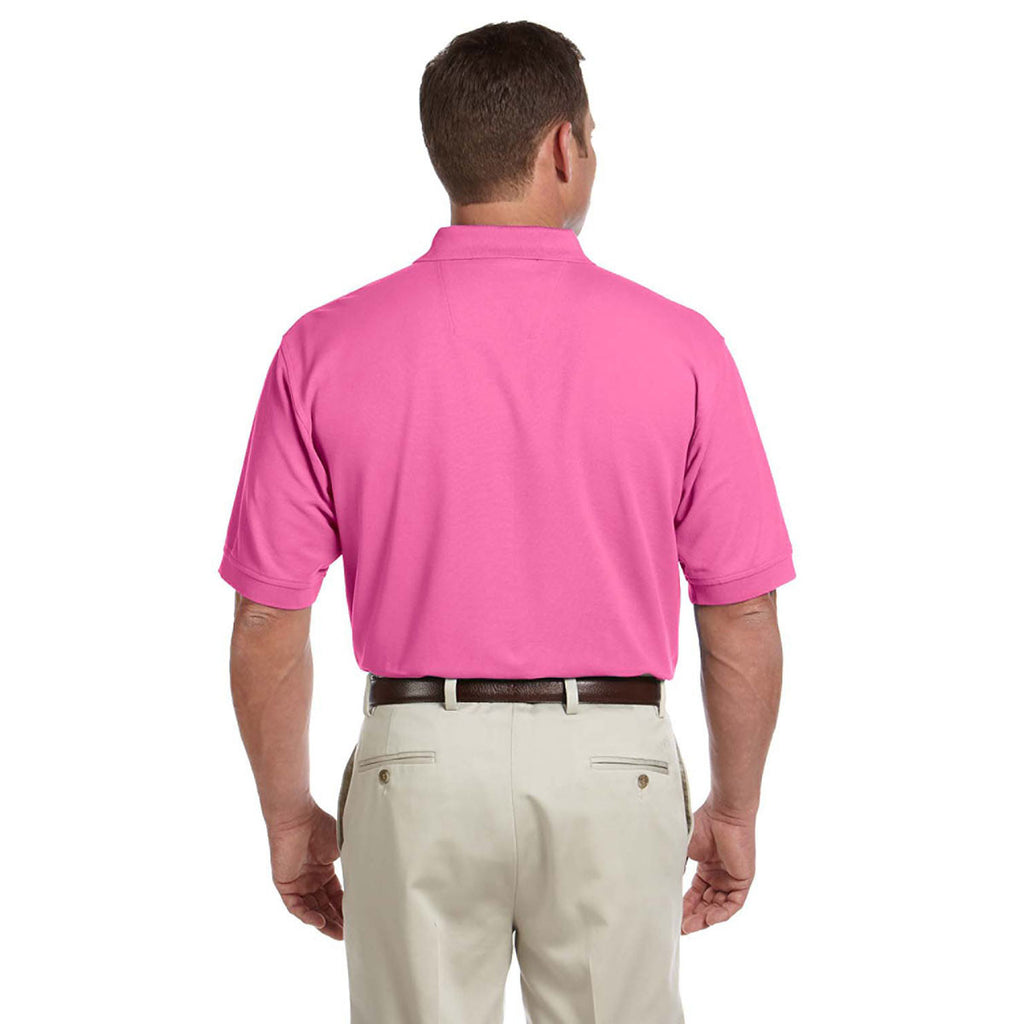 Devon & Jones Men's Charity Pink Pima Pique Short-Sleeve Polo