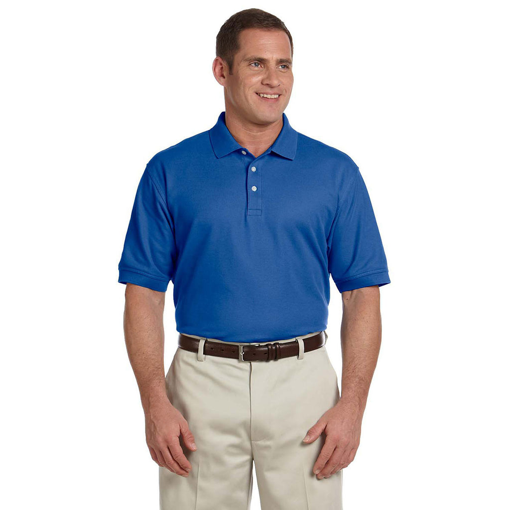 Devon & Jones Men's True Royal Pima Pique Short-Sleeve Polo