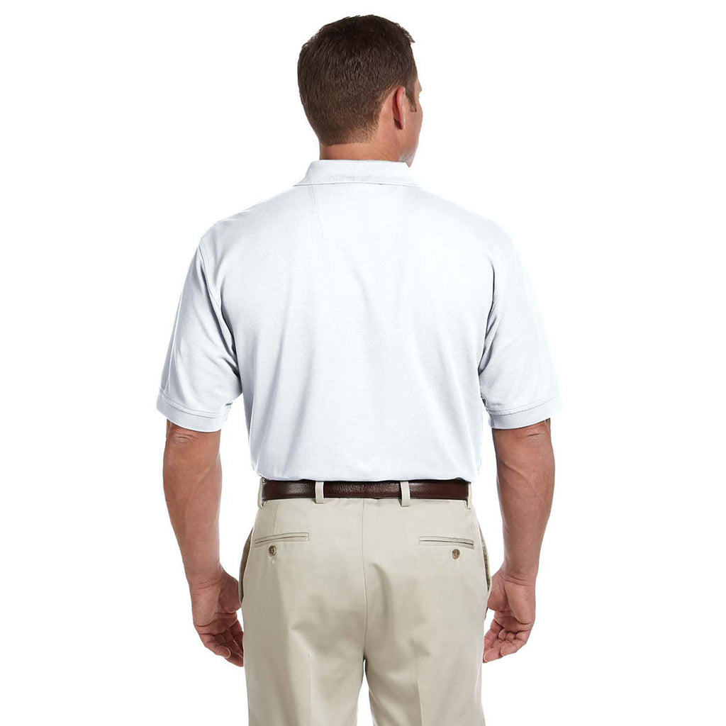 Devon & Jones Men's White Tall Pima Pique Short-Sleeve Polo