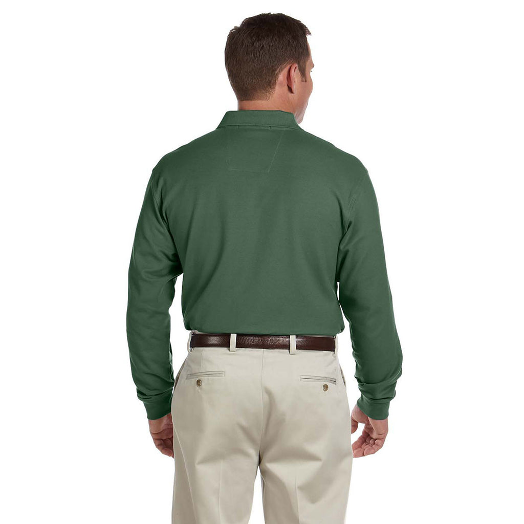 Devon & Jones Men's Dill Pima Pique Long-Sleeve Polo