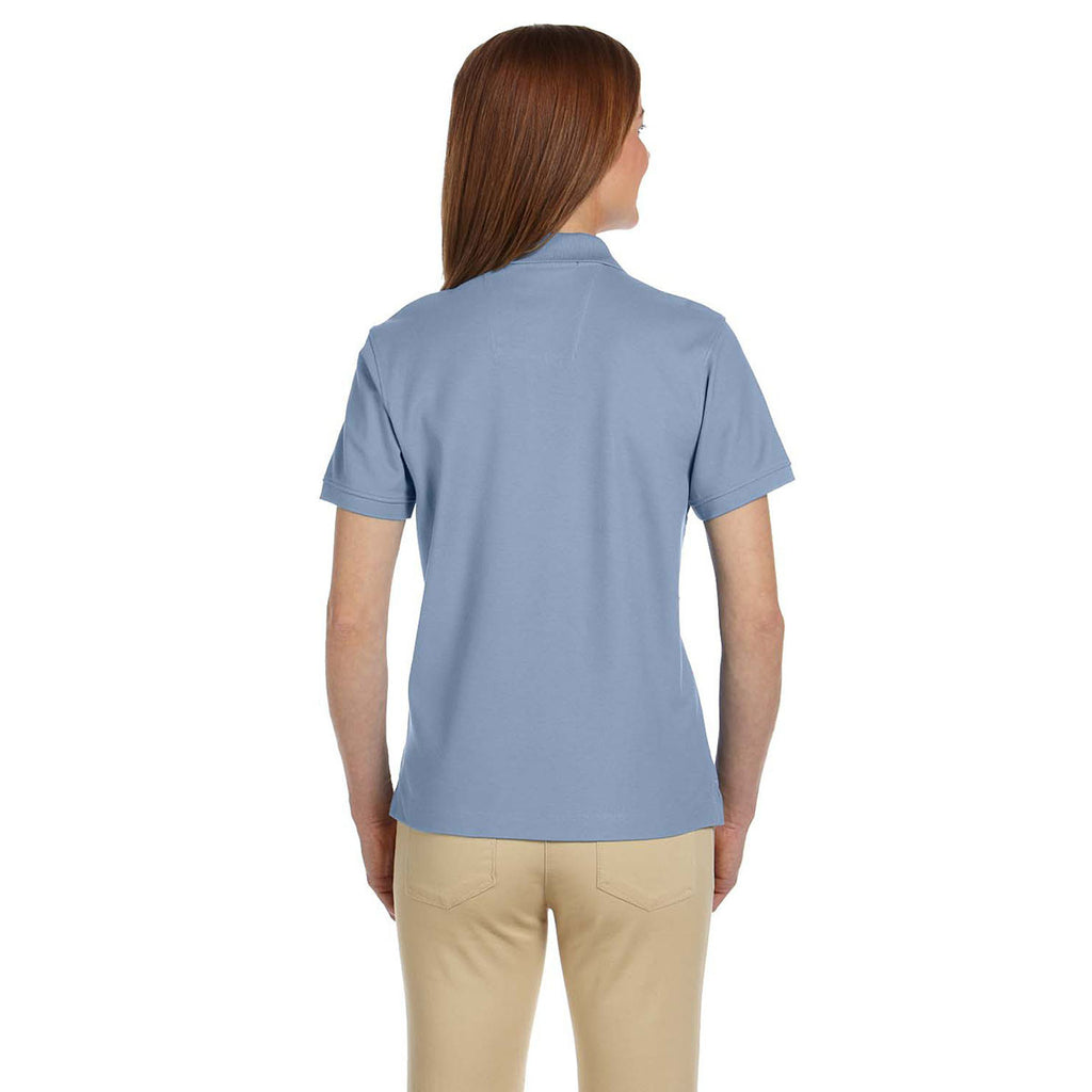 Devon & Jones Women's Slate Blue Pima Pique Short-Sleeve Polo