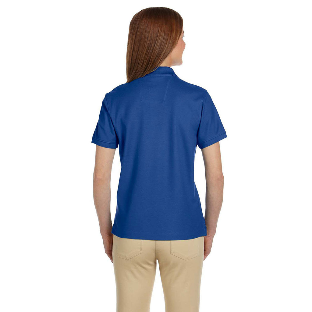 Devon & Jones Women's True Royal Pima Pique Short-Sleeve Polo