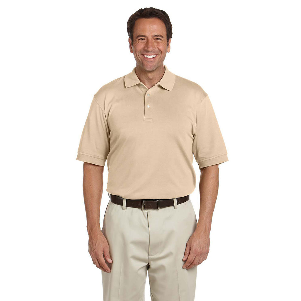 Devon & Jones Men's Stone Solid Perfect Pima Interlock Polo